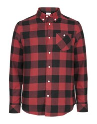 Wesc Olavi Long Sleeve Plaid Shirt Candy Apple