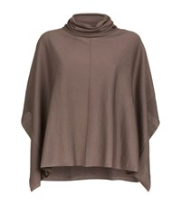 Wolford Victoria Roll Neck Poncho Female Neutral