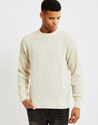 Bellfield Geysir Textured Jumper Cream