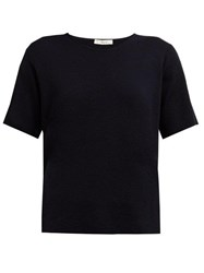 The Row Wesler Cashmere T Shirt Navy