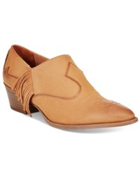 Sam Edelman Circus By Hermosa Western Ankle Booties Women's Shoes Saddle