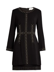 A.L.C. Madison Stud Embellished Cady Dress Black