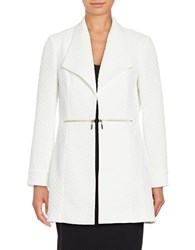 Nipon Boutique Quilted Open Front Topper Ivory