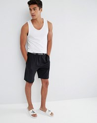 Calvin Klein Woven Lounge Shorts In Regular Fit Black