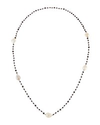 Bavna Long Beaded Spinel And Pearl Necklace