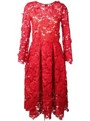 Alcoolique Lace Overlay Dress Red