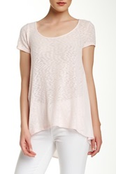 14Th And Union Mixed Media Scoop Neck Tee Pink