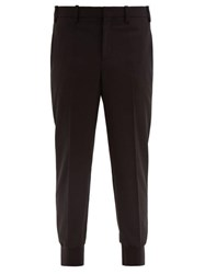 Neil Barrett Low Rise Fitted Cuff Tailored Trousers Black