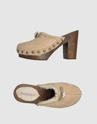 Manoush Mules Dark Brown