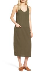 Treasure And Bond Women's Midi Tank Dress Olive Sarma