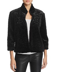 Laundry By Shelli Segal Faux Fur Jacket Black