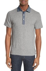 Todd Snyder Men's Chambray Trim Polo