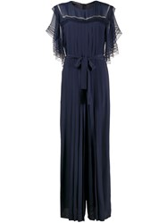 Alberta Ferretti Embroidered Pleated Jumpsuit 60