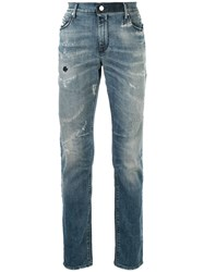 Rta Distressed Skinny Jeans Blue