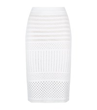 Pinko Perforated Ruffle Skirt Female White