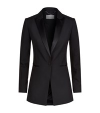 Reiss Rockie Tuxedo Jacket Female Black