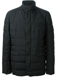 Herno Funnel Neck Padded Coat Black