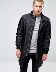 Diesel W Selfrige Long Parka Jacket Black