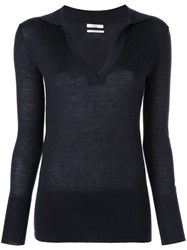 Co Knitted Top Blue
