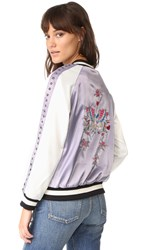 Jocelyn Reversible Ella Bomber Jacket Light Blue