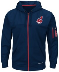 Majestic Men's Cleveland Indians Payback Moment Full Zip Hoodie Navy
