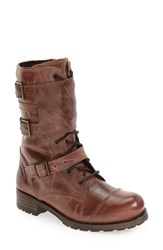 Bos. And Co. Women's 'Irena' Waterproof Moto Boot Tan Ocean Wax Leather