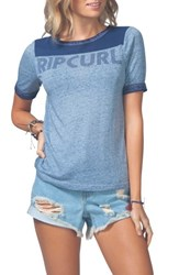 Rip Curl Women's Searching Ringer Tee Navy