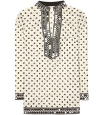 Tory Burch Sequinned Printed Tunic White