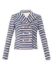Stella Jean Gelso Striped Jacket