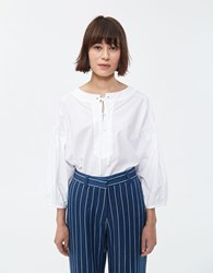 Rodebjer Nim Puff Sleeve Top White