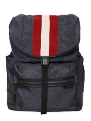 Bally Nylon Backpack W Web Detail
