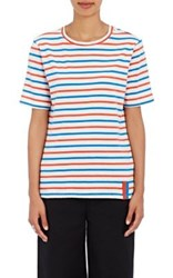 Kule Women's Modern Striped Cotton T Shirt Cream Blue Red No Color Cream Blue Red No Color