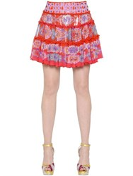 Manish Arora Embellished And Printed Chiffon Skirt