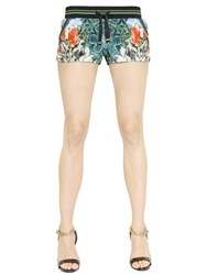 Roberto Cavalli Floral Printed Chenille Shorts