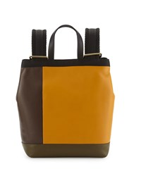 Colorblock Leather Parachute Backpack Multi Colors Marni
