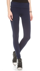 Solow Jersey Long Fold Over Leggings Navy