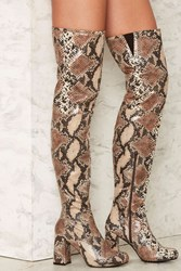Shellys London Kay Over The Knee Boot Animal