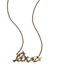 A.L.C. Antler Love Necklace Gold