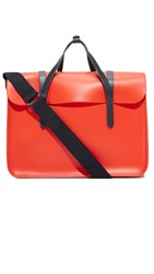 The Cambridge Satchel Company Large Folio Briefcase Chilli Navy