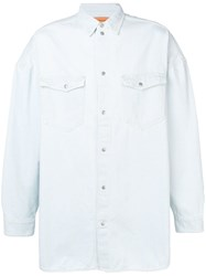 Tom Wood Oversized Denim Shirt Blue