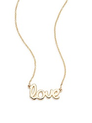 Saks Fifth Avenue 14K Yellow Gold Love Necklace