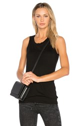 Monrow Sheer Double Layer Tank Black
