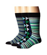 Steve Madden 3 Pack Fashion Crew Socks Black Green Men's Crew Cut Socks Shoes