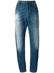 Twin Set High Rise Tapered Jeans Blue