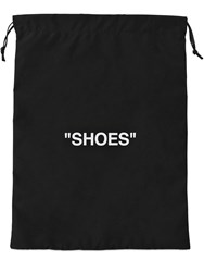 Off White Printed Nylon Shoe Bag Pouch Black