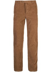 Kiton Off Centre Fastening Trousers Brown