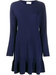 Allude Knitted Mini Dress Blue