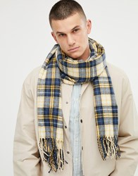 Tom Tailor Oversize Check Scarf In Yellow