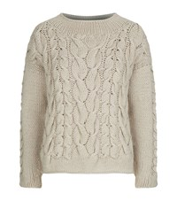 Malo Cable Knit Jumper Female Beige
