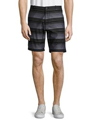 Calvin Klein Slim Fit Striped Chino Shorts Black